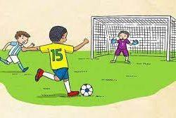 istilah free kick dalam permainan sepak bola diartikan